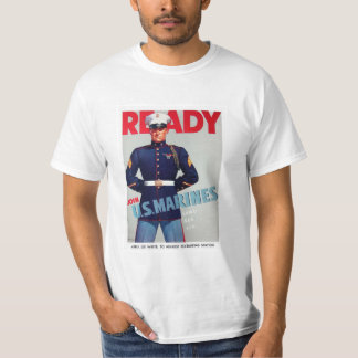 "U.S. Marine Corps Vintage ""Ready"" Poster T-Shirt"