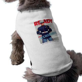 "U.S. Marine Corps WWII ""Ready"" Poster Sleeveless Dog Shirt"