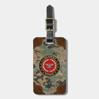U.S. Marines: Colonel (USMC Col) [3D] Luggage Tag