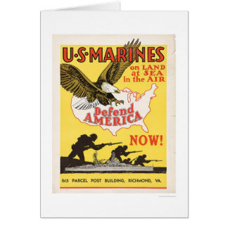 U.S. Marines Defend America Greeting Card