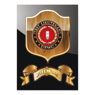 U.S. Marines: First Lieutenant (USMC 1stLt) [3D] 13 Cm X 18 Cm Invitation Card