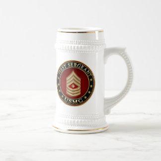 U.S. Marines: First Sergeant (USMC 1stSgt) [3D] Beer Stein