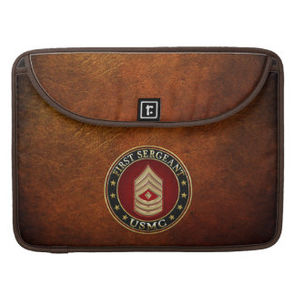 U.S. Marines: First Sergeant (USMC 1stSgt) [3D] Sleeve For MacBook Pro