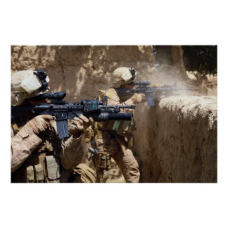 U.S. Marines in Helmand Province of Afghanistan Poster