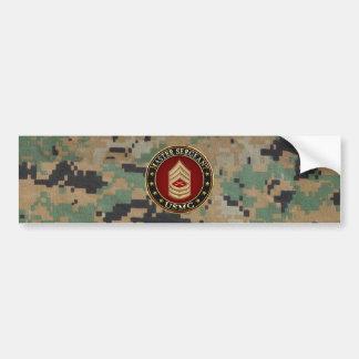 U.S. Marines: Master Sergeant (USMC MSgt) [3D] Bumper Sticker