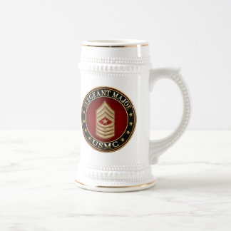 U.S. Marines: Sergeant Major (USMC SgtMaj) [3D] Beer Stein