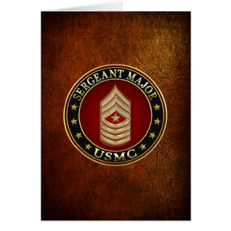 U.S. Marines: Sergeant Major (USMC SgtMaj) [3D] Card