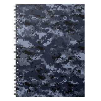 U.S. Military Blue Camouflage Spiral Notebook