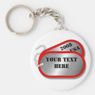 U.S. MILITARY - Dog Tags 2008 Key Ring
