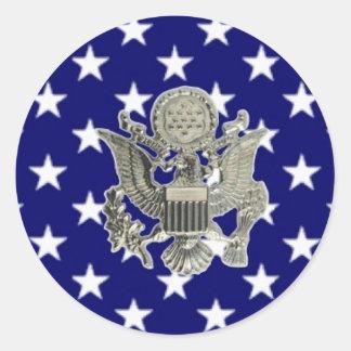 u.s. military insignia round sticker