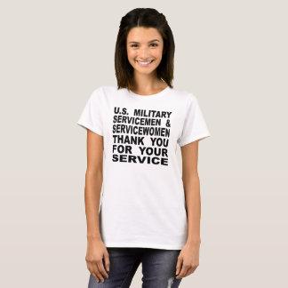 U.S. Military Servicemen & Servicewomen Thank You T-Shirt