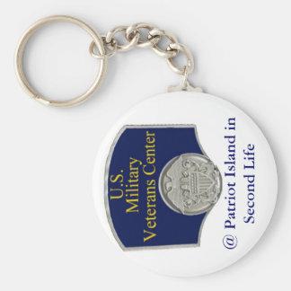 U S Military Veterans Center Keychain
