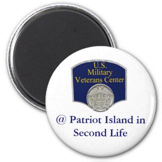 U.S. Military Veterans Center @ Patriot Island in  6 Cm Round Magnet