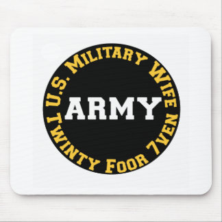 U S Military Wife Mouse Pads