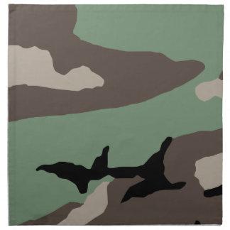 U.S. Military Woodland Camouflage Printed Napkin