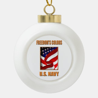 U.S. Navy Ceramic Ball Ornament