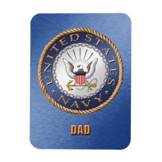 U.S. Navy Dad Flexible Photo Magnet