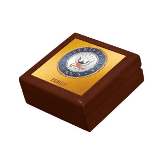 U.S. Navy Family Jewelry Keepsake Box