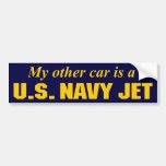 U.S. Navy Jet Car Bumper Sticker