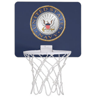 U.S. Navy Mini Basketball Hoop