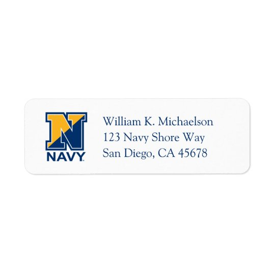 U.S. Navy   Navy Initial N Return Address Label
