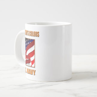 U.S. Navy Rectangle Stickers Large Coffee Mug