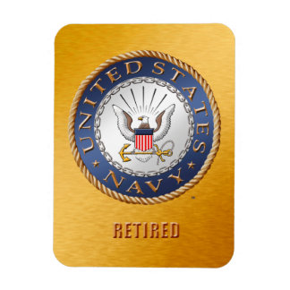 U.S. Navy Retired Flexible Photo Magnet