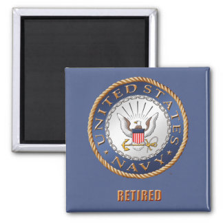 U.S. Navy Retired Magnet