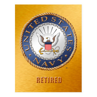 U.S. Navy Retired Postcard