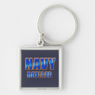U.S. Navy Retired Premium Square Keychain