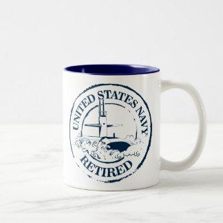 U.S. Navy Retired Two-Tone Coffee Mug