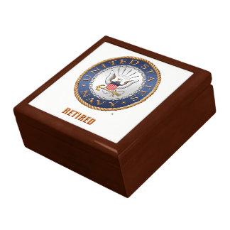 U.S. Navy Retired Wooden Jewelry Keepsake Box