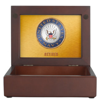 U.S. Navy Retired Wooden Keepsake Box