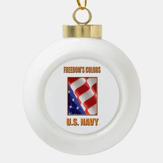 U.S. Navy Snowflake Framed Ornament