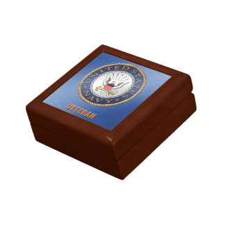 U.S. Navy Veteran Jewelry Keepsake Box