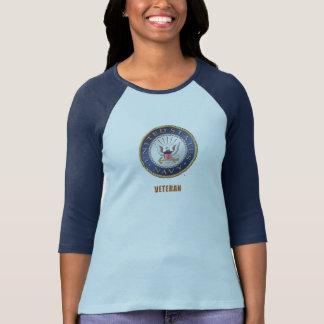 U.S. Navy Veteran Women's Bella+Canvas 3/4 Sleeve T-Shirt