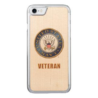 U.S. Navy Veteran Wood Case