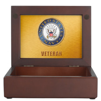 U.S. Navy Veteran Wooden Keepsake Box