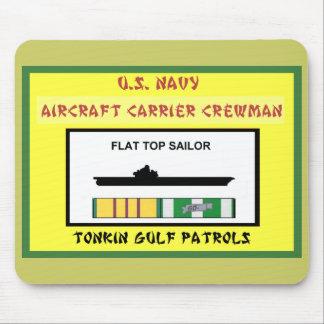U.S. NAVY VIETNAM AIRCRAFT CARRIER CREWMAN MOUSE PAD
