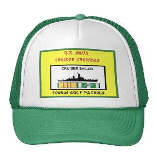U S NAVY VIETNAM CRUISER CREWMAN MESH HAT