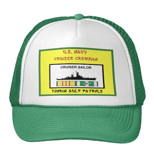 U.S. NAVY VIETNAM CRUISER CREWMAN MESH HAT