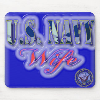 U.S Navy  Wife(resized) Mouse Pad