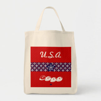 U.S. Patriotic Celebration of National Holidays Grocery Tote Bag