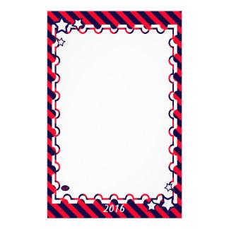U.S. Patriotic Celebration of National Holidays Personalized Stationery