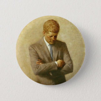 U.S. President John F. Kennedy by Aaron Shikler 6 Cm Round Badge