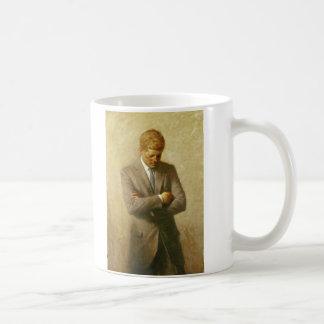 U.S. President John F. Kennedy by Aaron Shikler Basic White Mug