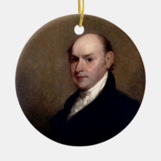 U.S. President John Quincy Adams by Gilbert Stuart Ceramic Ornament