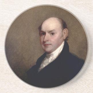 U.S. President John Quincy Adams by Gilbert Stuart Sandstone Coaster