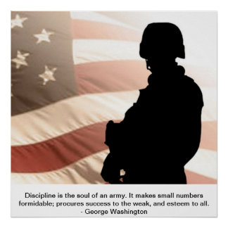 U.S. Soldier W/George washington Quote Poster