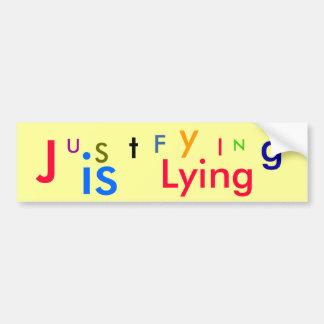 U, S, t, J, F, y, I, N, g, is, Lying Car Bumper Sticker
